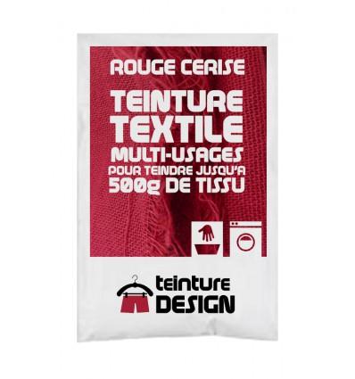 Teinture textile rouge cerise