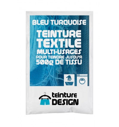 Teinture textile bleu turquoise