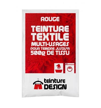 Teinture textile rouge