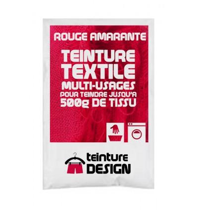 Teinture textile rouge amarante