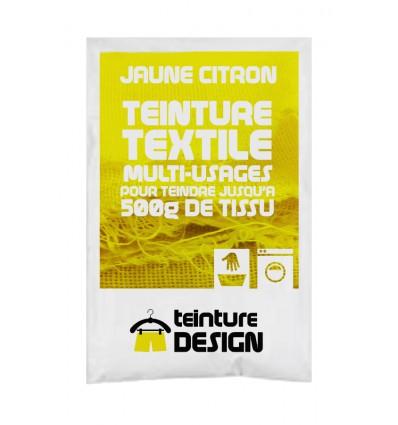 Teinture textile jaune citron