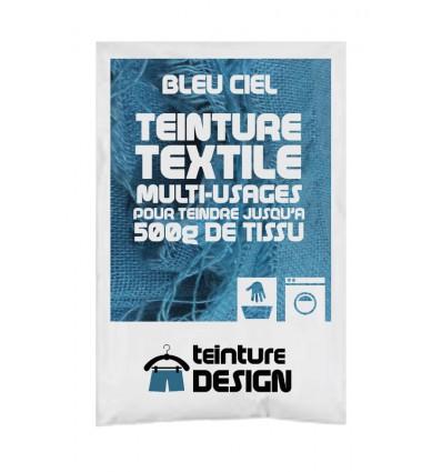 Teinture textile bleu ciel