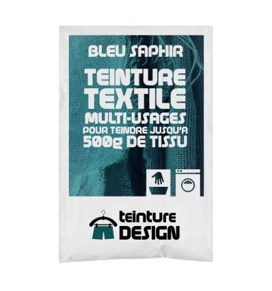 Teinture textile bleu saphir